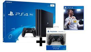 Ps4 Pro 1Tb 4K Hdr Playstation Mas Fifa  Y 2 Mandos From