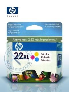 Cartucho De Impresión Hp 22 Xl, Tricolor, Para Hp Deskjet