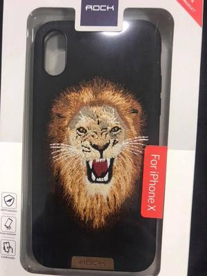 Case Bordados Marca Rock Modelo Leopardo Leon Tigre Iphone X