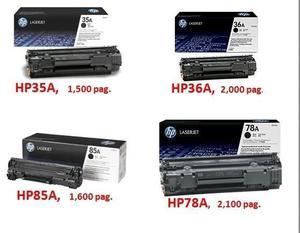 TONER HP 12A 35A 78A 85A PRA IMPRESORAS LASER RECARGA DE