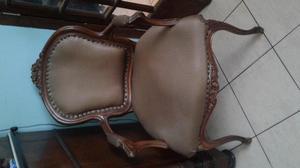 sillas antiguas de caoba LUIS XV! con brazos