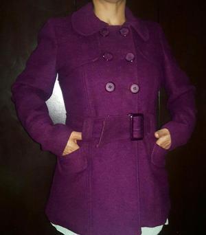Abrigo color morado