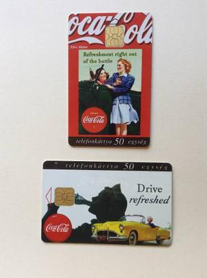 Coca Cola Publicidad 02 Atractivas Tarjetas Telefonicas
