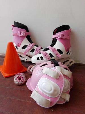 Patines rosados para señorita talla 38