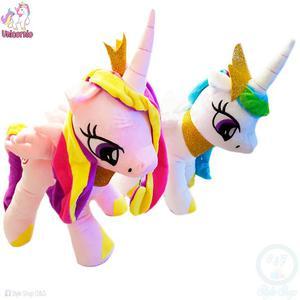 Peluche Pony Unicornio 45 cm. Incluye Bolsa De Regalo
