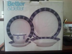 Juego De Vajilla De Porcelana Better Better 20 Piezas New
