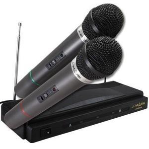 Set De 2 Microfonos Inalambricos Karaoke En Casa Oferta