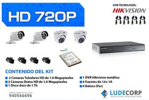 REMATE KIT DE CAMARAS HD HIKVISION s/. 640