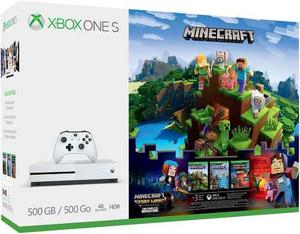 Xbox One S 500gb - Minecraft Complete Adventure Bundle