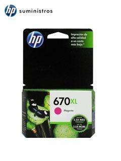 Cartucho De Tinta Hp 670xl, Color Magenta, Para Deskjet Ink
