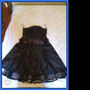 vestido color negro