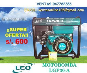 MOTOBOMBA LGP30A 6.5HP 3