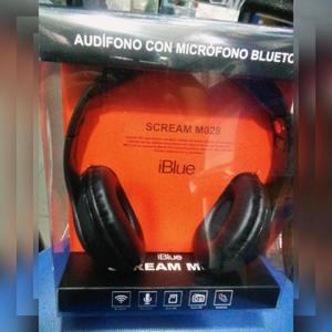 AUDIFONO BLUETOOTH iBlue Scream c/FM/MIcroSD/Cable auxiliar.