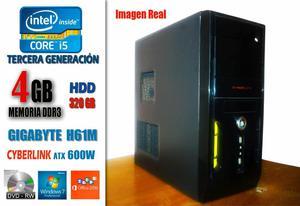 CPU Core i5 Tercera Generacion RAM 4Gb HDD 320Gb 600 W