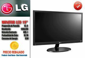 Monitor LED LG 19 Pulg x768 Seminuevos Con Garantia