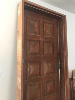 Puerta de madera de cedro posot class for Marco puerta madera