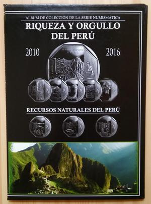 Album de Monedas Riqueza y Orgullo del Peru