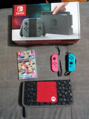 Nintendo Switch + 2 Joycon + Mariokart 8