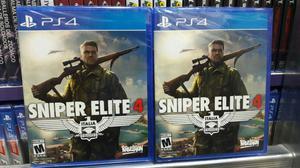 Sniper Elite 4 Ps4 Nuevo Y Sellado Stock