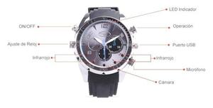 Reloj Camara Espia Full Hd Infrarrojo 8gb De Memoria Interna