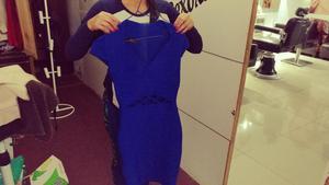 Vestido de mujer marca maloko talla M color azul