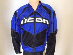 casaca para moto ICON CONTRA azul talla M y L