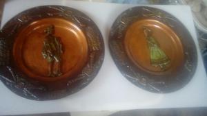 Platos decorativos jerusalen israel bronce posot class - Platos decorativos pared ...