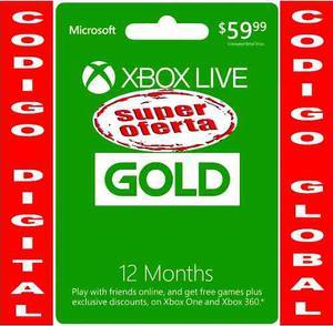 Xbox Live Gold 12 Meses Membresia Xbox One Y Xbox 360 Suka