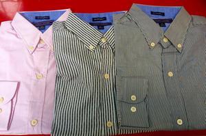 Camisas Tommy Hilfiger Manga Larga con Rayas 100 Soles Cada