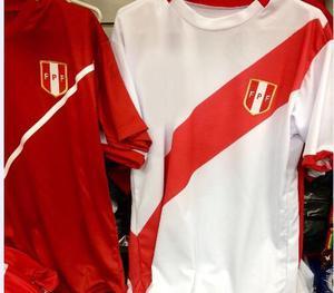 Polos Peru en Rojo/Blanco Cuello Redondo Talla S M Y L