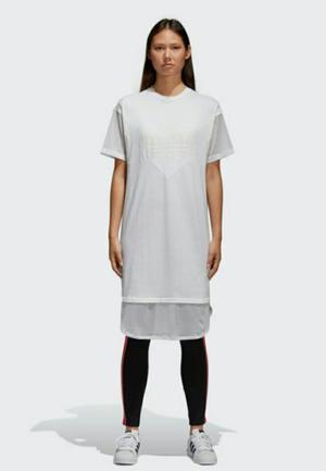 Polo Vestido Adidas Originals Blanco