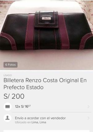 Billetera Renzo Costa de Mujer Ofrezcan