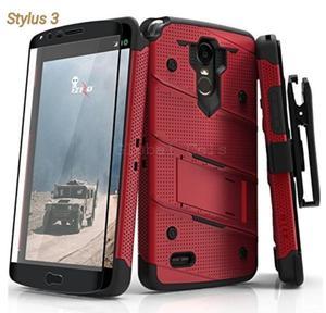 Case Lg Stylus 3 Stylo 3 Rojo Negro Usa