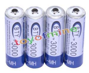 Pilas AA Batería a granel NíquelHidruro Recargable de