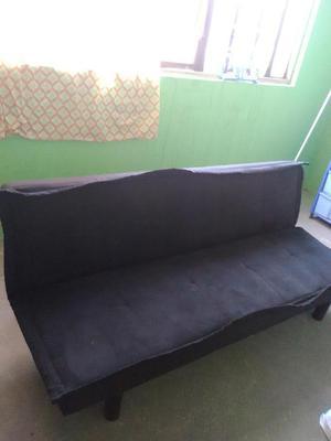 Sofá cama color negro en oferta como nuevo