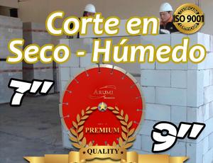 Discos Diamantados para Corte en Ladrillo Blanco y Unicon