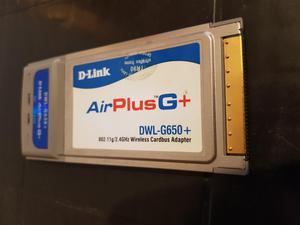 Tarjeta de red inalambrica PCMCIA 100 Mb