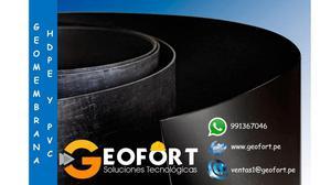 VENTA E INSTALACION DE GEOMEMBRANAS HDPE Y PVC Cel: