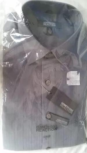 Camisa Kenneth Cole Reaction Plomo