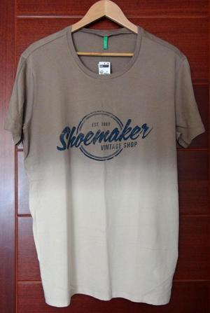 Polo Hombre Benetton Beige Extra Large XL. Nuevo.