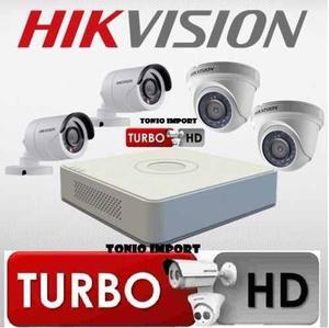 Camaras De Seguridad Hikvision Kit Completo HD 720P