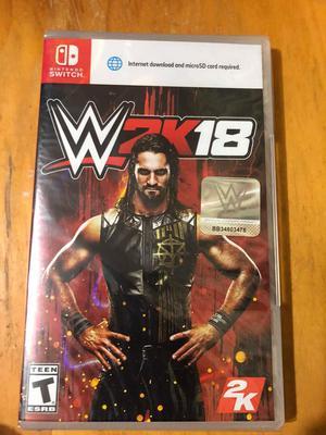 WWE W2K18 Juego de Nintendo Switch Nuevo Sellado