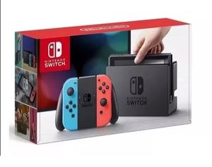 Consola Nintendo Switch Neon Blue Controles JoyCon