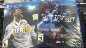 Pack Fifa 18 Y Star Wars Battlefront 2 Ps4 Nuevos Sellados