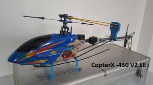 CopterX 450SE V2 nuevo Trex 450 con maleta de transporte, RC