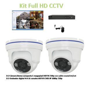 Kit 2 Cámaras Seguridad Hikvision, Dvr HD 500GB Disco y