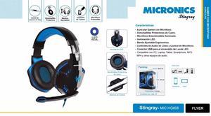 Audífono Gamer Micronics Stingray