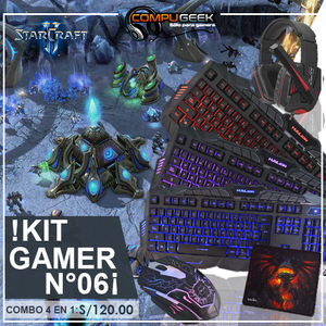 Kit Gaming N°06 Teclado Mouse Audifono Pad Mouse 4 En 1