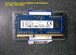 Memoria RAM SODIMM DDR3 4GB PCS Mhz.