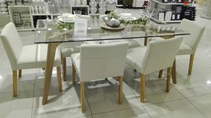 Vendo juego de comedor con 6 sillas tapiz de tela posot for Comedor 6 sillas usado